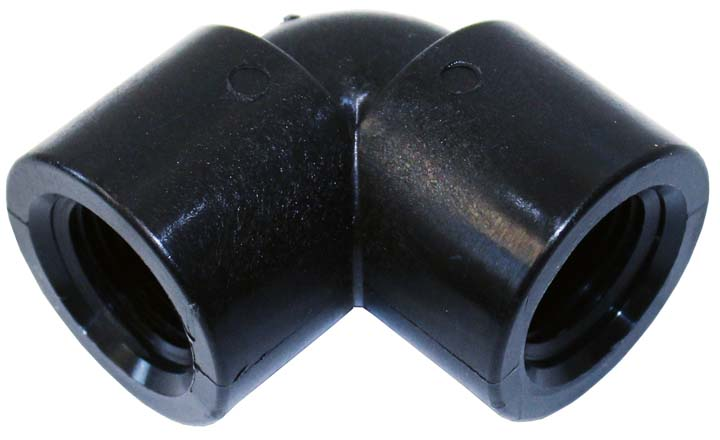 "1/2"" Female poly pipe elbow, 90 degree, for foam d"