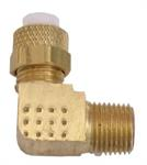 1/4^ OD compression fitting, elbow, 1/8th NPT