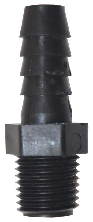 "1/4"" x 3/8"" hose barb for teat unit hose"