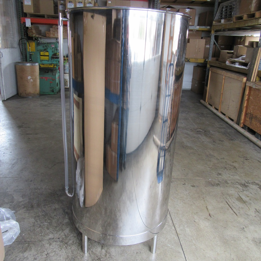 "100 gallon vertical wash vat wi/lid & s 26""D x 47"""