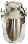 90lb. stainless milk cans with cover