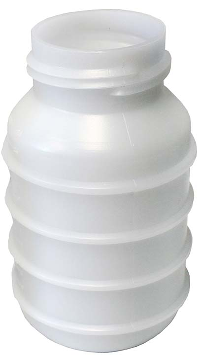 Plastic jar for Electrobrain, (7750-0014-095 WF)