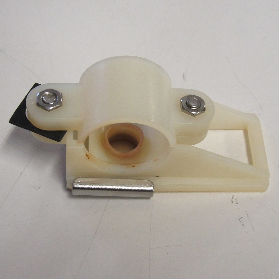 "Used 1 1/2"" white plastic mik valve, new rubber"